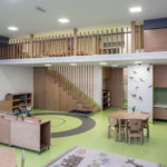 Newly built local nursery with interior design and decorating