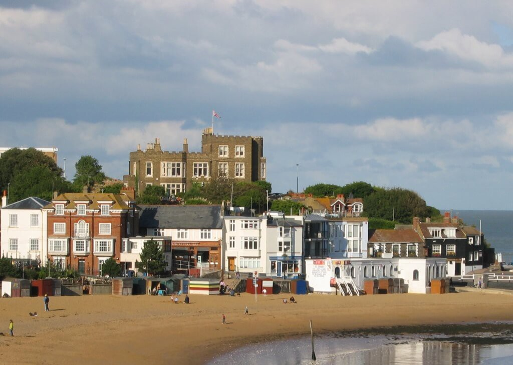 The beach in Broadstairs, Kent
