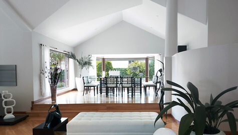 PA Hollingworth | Open plan living space with interior design